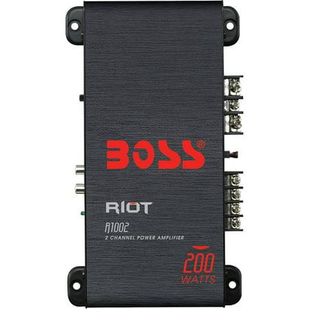 - Boss Audio R1002 Riot 200W 2 Channel Full Range, Class A/B Amplifier