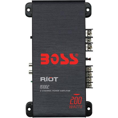 Boss Audio R1002 Riot 200W 2 Channel Full Range, Class A/B Amplifier