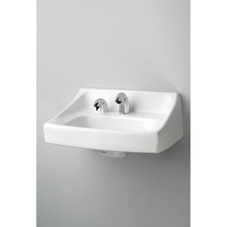 Toto Lt307a 01 21 Wall Mounted Bathroom Sink With Single Faucet Hole And Soap Dispenser Hole
