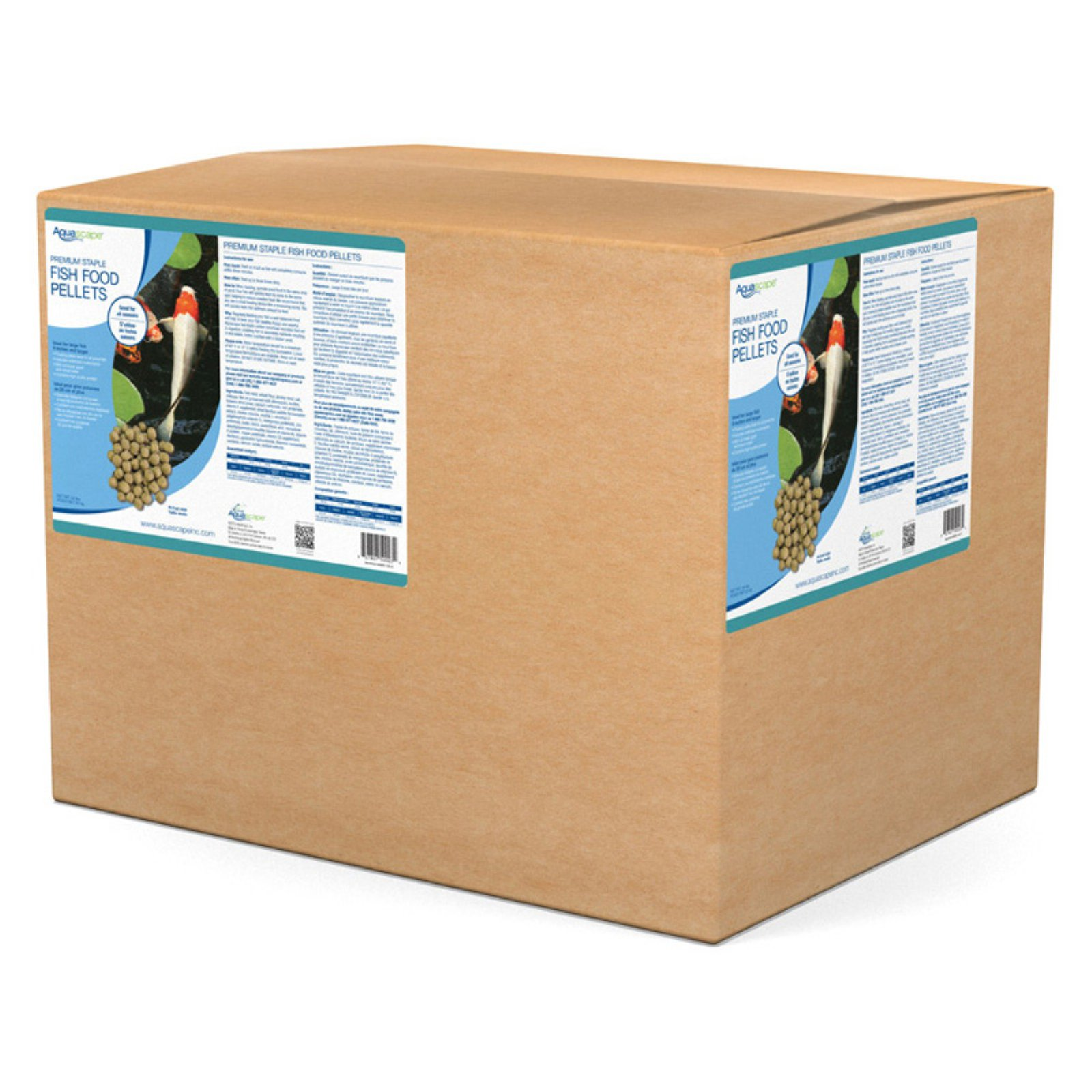 Aquascape Premium Staple Fish Food Large Pellets - 44 lbs.