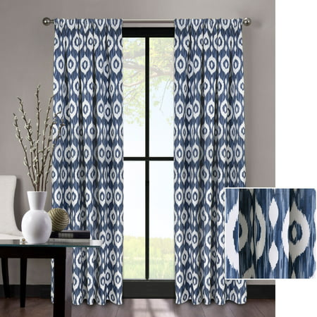 Better Homes and Gardens Tribal Ikat Natural Room Darkening Window Curtain - Natural Curtain Panel