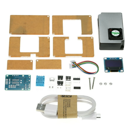 DIY PM2.5 Environment Detector Kit Air Quality Monitor with Transparent Case