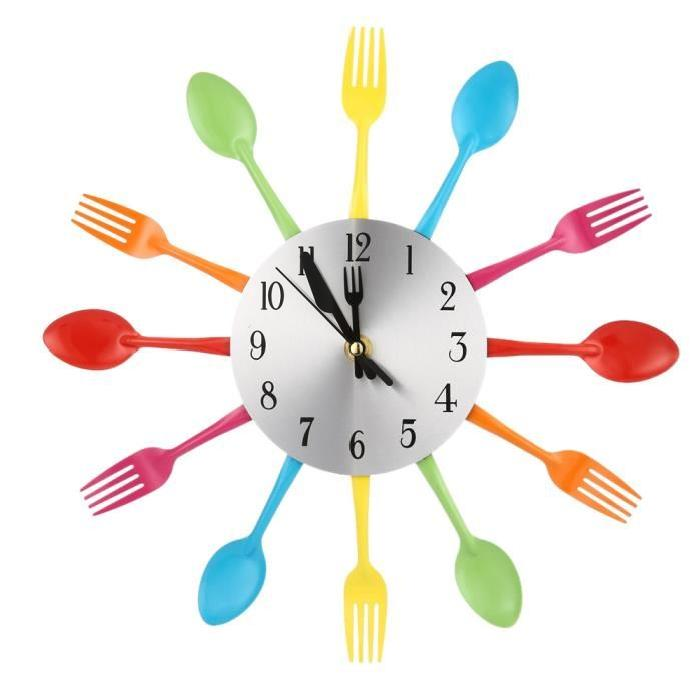 DIY Modern New Design Wall Clock Knife Fork Spoon Clocks Kitchen Kinves Home Decoration by