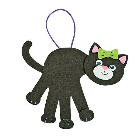 Cat Crafts For Halloween (Fun Express - Black Cat Handprint ck for Halloween - Craft Kits - Hanging Decor Craft Kits - Handprint Decoration Kits - Halloween - 12)