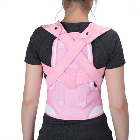 WALFRONT New Pink Back Shoulder Lumbar Waist Supporting Belt Bone Injury Correction Straighten Upper Back Slouching Corrective Prvent (M) - image 8 of 8
