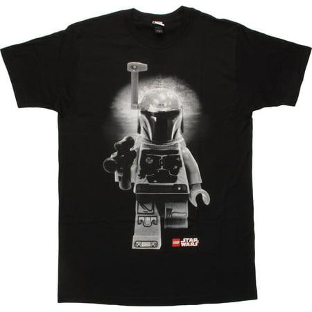 Star Wars Lego Boba Fett BW T-Shirt