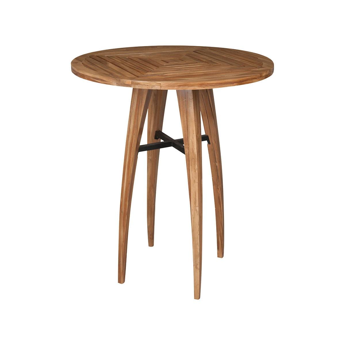 "GuildMaster 7117004ET Teak Wood 36"" Wide Teak Wood Pub Table by Guildmaster"