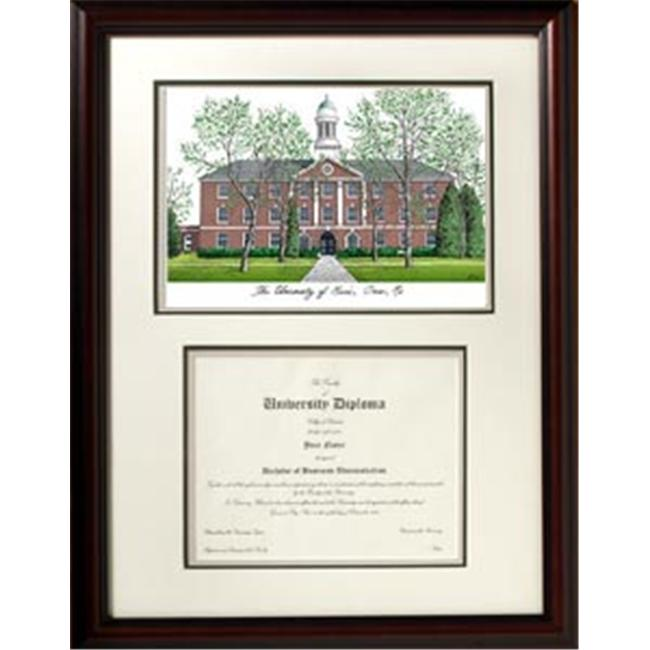Campus Images ME999V Maine University Scholar with Mahogany Frame