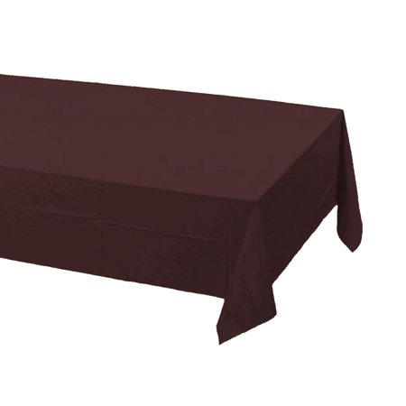 Brown Plastic Tablecloth (2 Plastic Rectangular Tablecloths 54