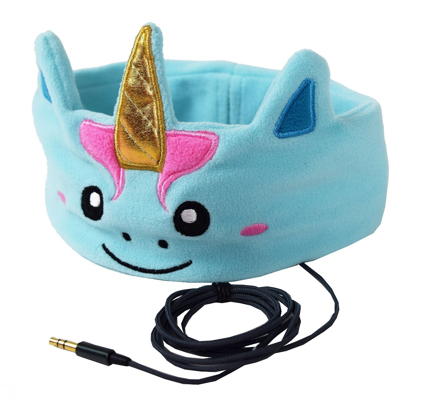 CozyPhones Kids Headband Headphones Volume Limited Childrens Earphones Ultra-Thin Speakers Home Travel Sleep Comfortable Soft Fleece (MYSTIC UNICORN) Boys Girls Toddler