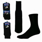 YDB Mens Tube Socks, Black - Case of 60