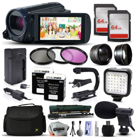 Buy Canon VIXIA HF R62 HFR62 HD Camcorder Video Camera + 128GB Memory + Travel Charger + 3 Filters + 2...