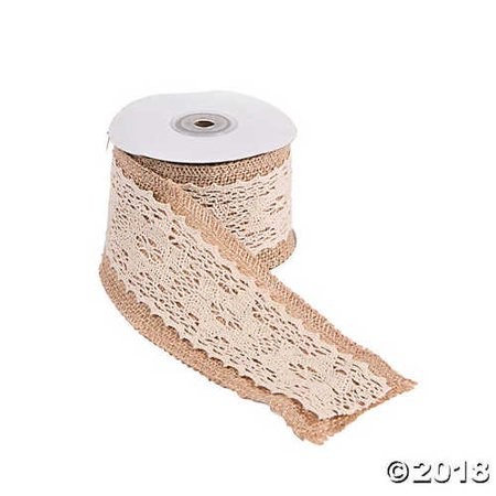 Burlap Ribbon With Lace (Burlap Ribbon with Vintage)