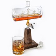 Seven Seas Spigot Decanter with Oak Base by Decanters
