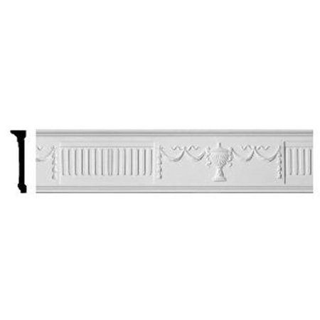 Ekena Millwork CHA07X01UR 7.50 in. H x 1.75 in. P x 96 in. l - Federal Urn and Ribbon Chair Rail - image 1 of 1
