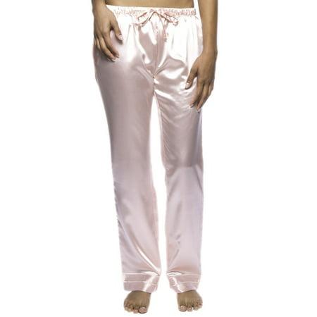 556b180992 Noble Mount Women s Classic Satin Lounge Pants - Light Coral - 2XL ...