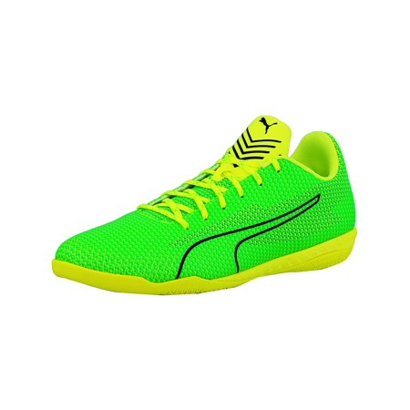 (Puma Men's 365 Ignite Ct Green / Black Toucan Yellow Ankle-High Fabric Soccer Shoe - 8.5M)