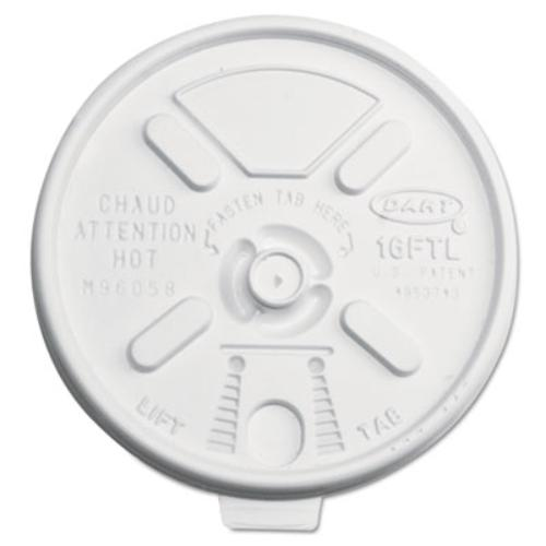 Dart Fusion 16FTL Lift N' Lock Plastic Hot Cup Lids, 12-24oz Cups, Translucent, 1000/carton