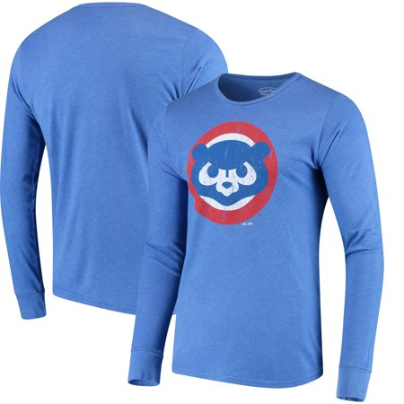 28e41bd775f Men s Majestic Threads Heathered Royal Chicago Cubs Tri-Blend Long Sleeve T- Shirt - Walmart.com