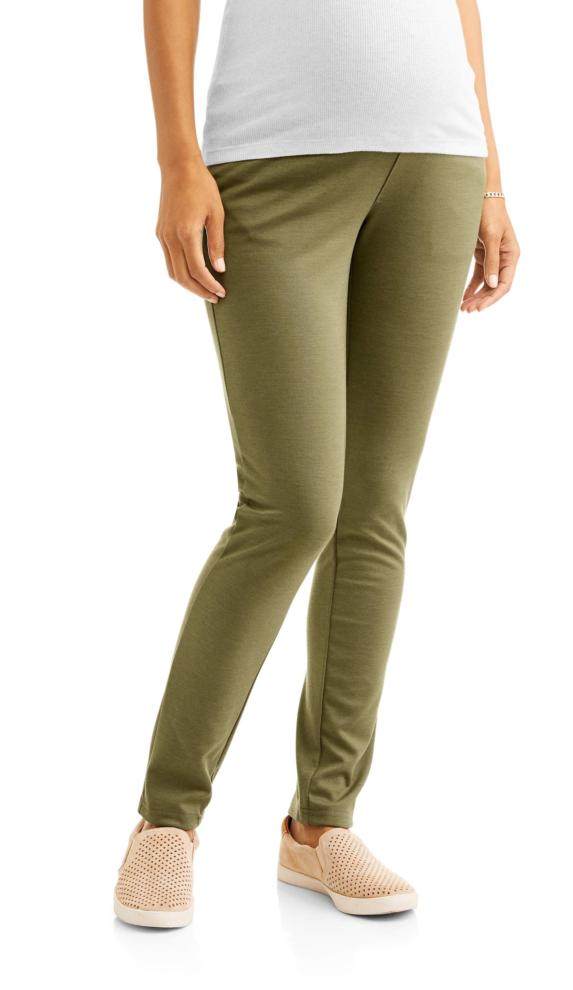 Maternity Full Panel Skinny Leg Stretchy Knit Ponte Pants by