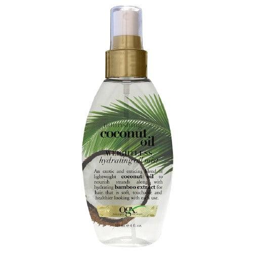 OGX Nourishing Coconut Oil Weightless Hydrating Oil Mist, 4 Oz