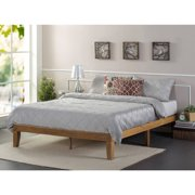 zinus solid wood platform bed rustic pine - King Bed Frame Platform