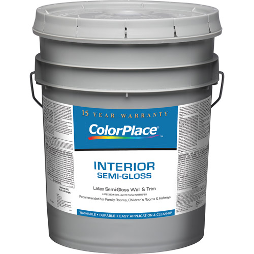 ColorPlace White Semi Gloss Interior Paint 5 Gal