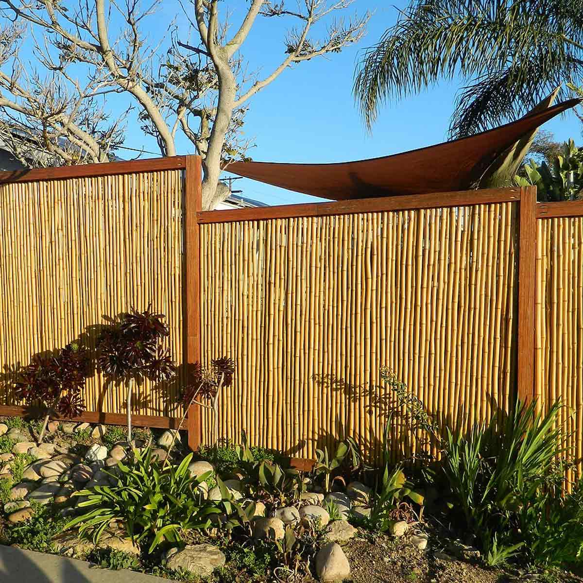 Backyard X Scapes Rolled Bamboo Fencing backyard x-scapes bamboo fencing, natural - walmart