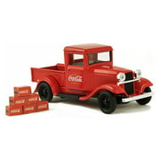 Coca-Cola 1/43 1934 Ford Model A Pickup w/ 6 Bottle Cartons Collectible Toy Vehicle
