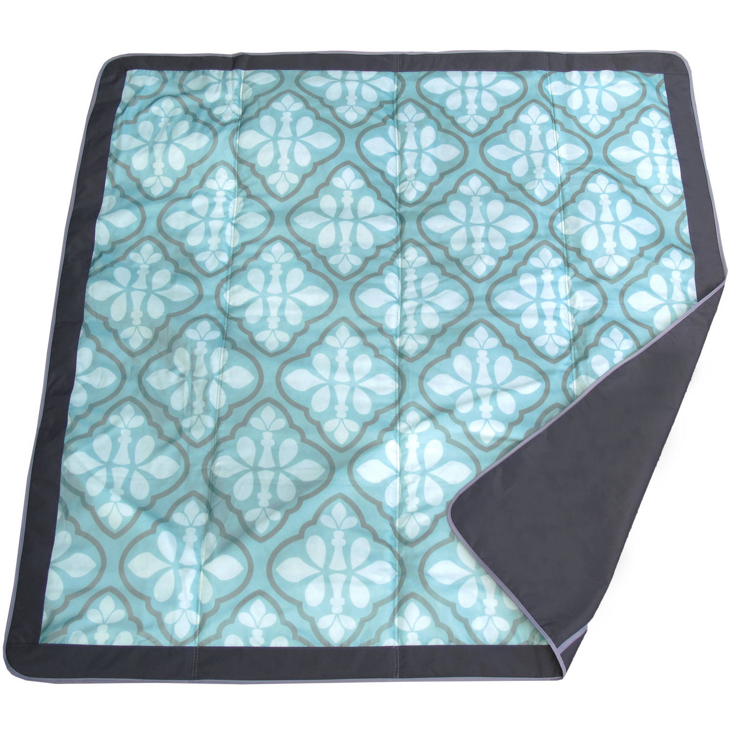 JJ Cole 5' x 5' Outdoor Blanket, Blue Iris