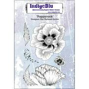 """IndigoBlu Cling Mounted Stamp, 5"""" x 4"""", Poppycock"""