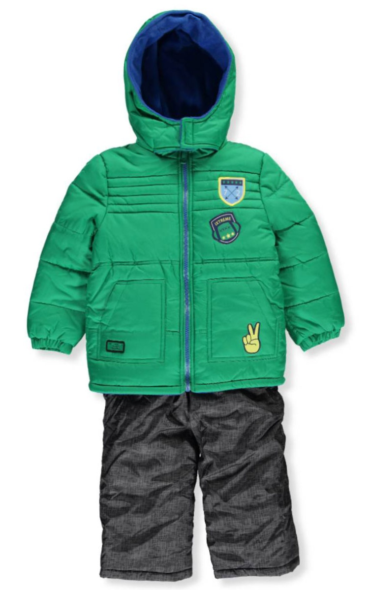 ef66c8927503 iXtreme - Baby Toddler Boy Quilted Patches Puffer Coat   Snowpants ...