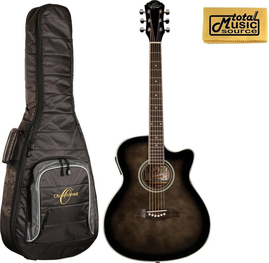 Oscar Schmidt OACEFTB Select Spruce Catalpa Auditorium Acoustic-Electric Guitar w/Bag, OACEFTB BAG