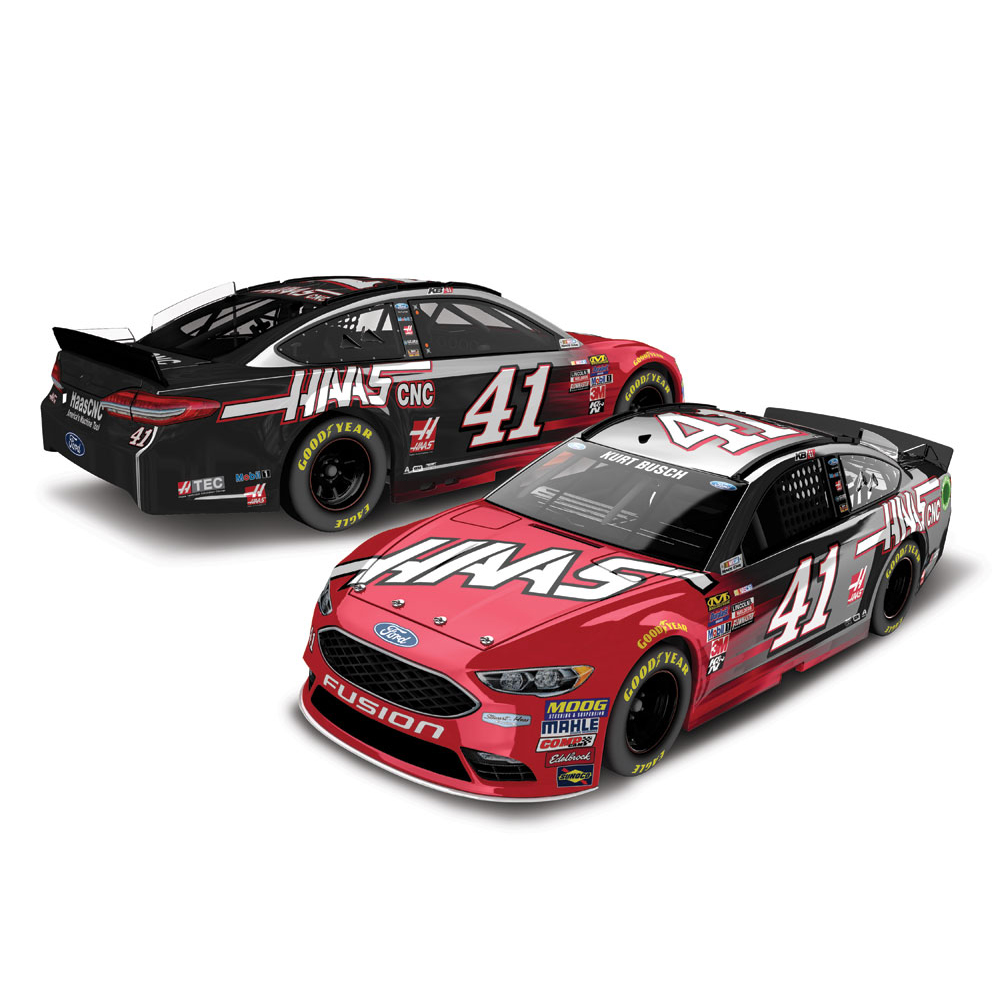 Kurt Busch Action Racing 2017 #41 HAAS 1:24 Monster Energy Nascar Cup Series Color Chrome... by Lionel LLC