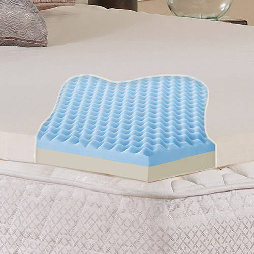 "Contura 2"" Gel Memory Foam Mattress Topper, Multiple Sizes"
