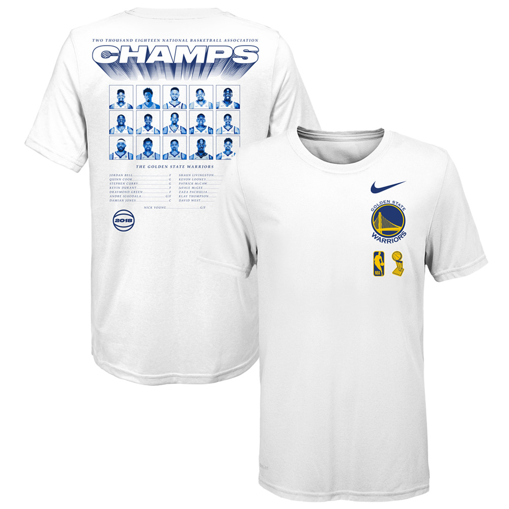 Golden State Warriors Nike Preschool 2018 NBA Finals Champions Roster T-Shirt - White