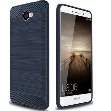 san francisco 10fa7 db84a Huawei Ascend XT2 H1711 Case, SOGA [Brush TPU Gel] Soft Rubber Flexible  Skin Cover for Huawei Ascend Xt2 H1711, Huawei Elate 4g - Blue