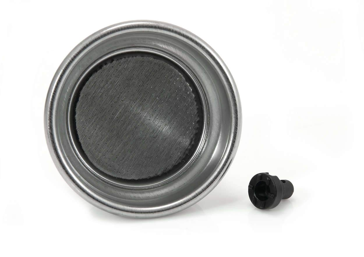 Pressurised Gaggia 996530010302  Stainless Steel 2 Cup Filter Basket with Pin