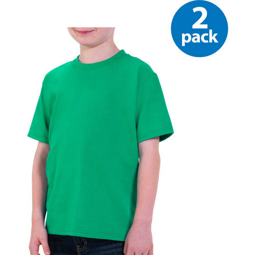 Fruit of the Loom Boys Short Sleeve Crew Neck T Shirt, Your Choice 2 Pack Value Bundle