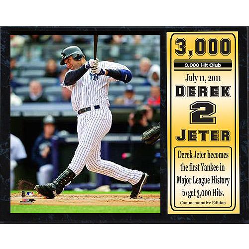MLB Derek Jeter Stat Plaque, 12x15
