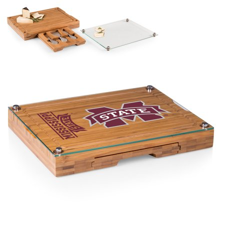 Mississippi State Bulldogs Concerto Cheese Board with Serving Stage and Tools - No Size