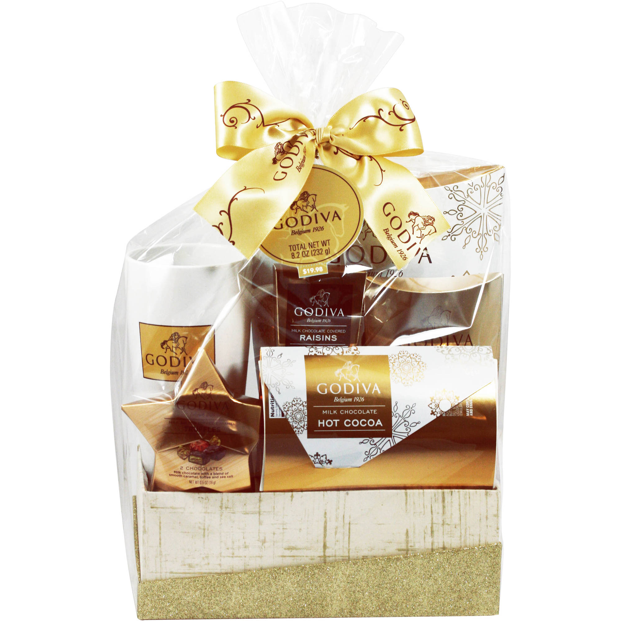 Godiva Gold Glitter Holiday Gift Box, 4 pc
