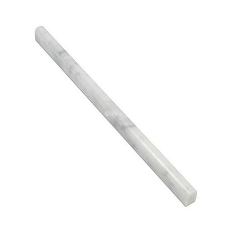 carrara marble italian white bianco carrera bullnose pencil molding