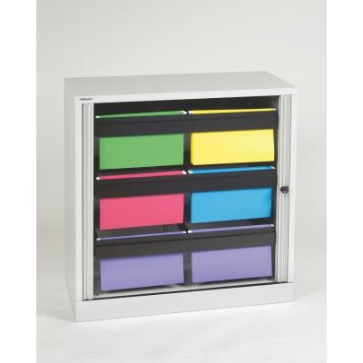 "Bisley 40"" Premium Hanging File Folder Tambour Cabinet, Light Grey BDSTAMK3LG by"