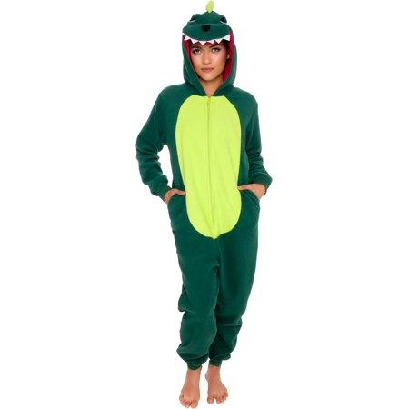 Silver Lilly Adult Slim Fit One Piece Cosplay Dinosaur Animal Pajamas