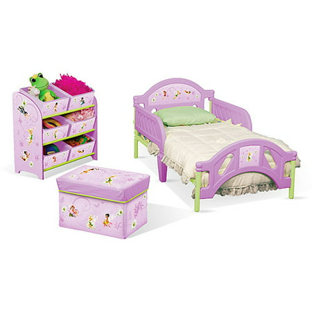disney tinkerbell fairies toddler room in a box. Black Bedroom Furniture Sets. Home Design Ideas
