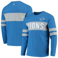 Detroit Lions Hands High Game On Sueded Slub Long Sleeve T-Shirt - Blue