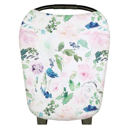 Infant Soft Heart Feather Floral Printed Nursing Car Seat 1pcs - image 8 de 8