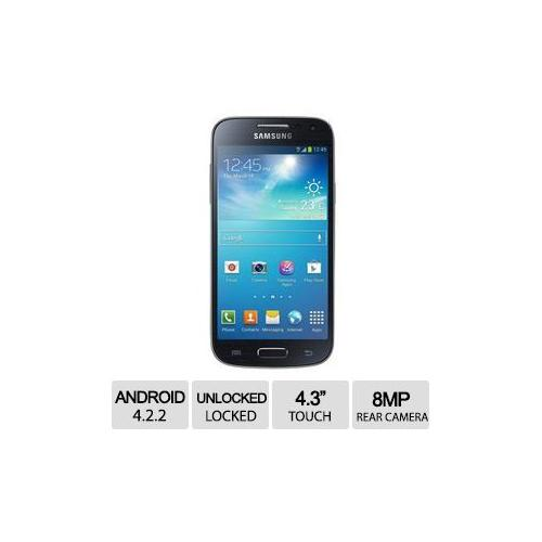 "Samsung Galaxy S4 Mini Unlocked GSM Android 4.2.2 SmartPhone - 4.3"" Touchscreen, 8MP Rear/1.9MP Front Camera, Black, Dua"