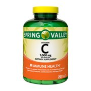 Spring Valley Vitamin C Tablets with Rose Hips, 1000 mg, 250 Count